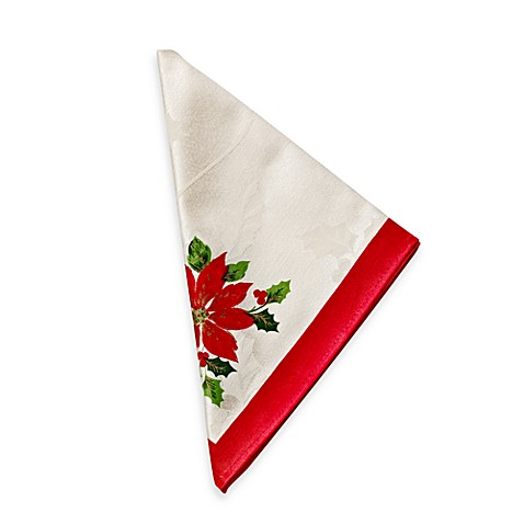 Poinsettia Flowers  Napkins - 4-pack