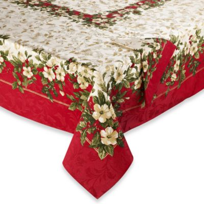 "Joyous Holiday 52"" x 52"" Tablecloth"