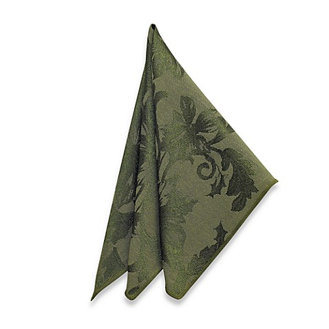 Holiday Joy Napkins in Olive (Set of 4)
