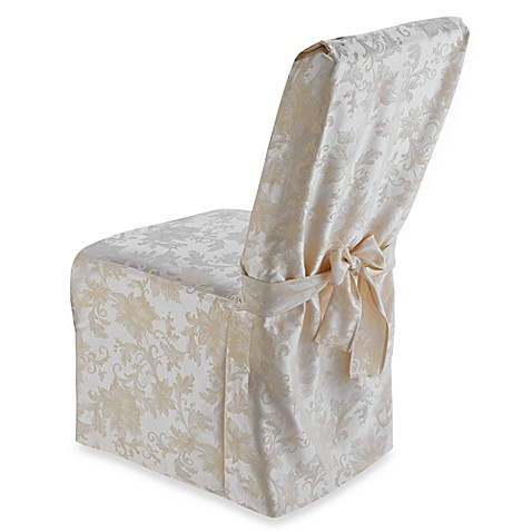 Holiday Joy Dining Room Chair Cover In Ivory Bed Bath