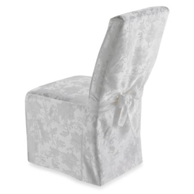 Holiday Joy Dining Room Chair Cover - White
