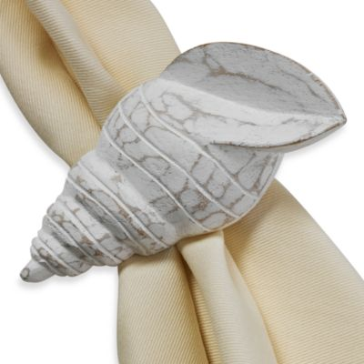 Turban Shell Napkin Ring Coastal Dining