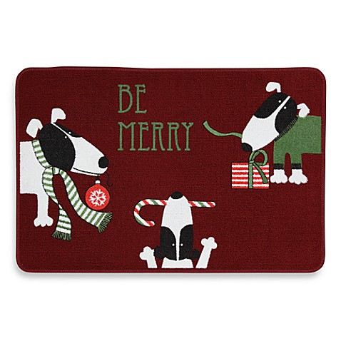Merry Dogs Holiday Rug
