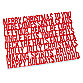 Cheerful Text Holiday Placemat