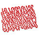 Tossed Candy Canes Holiday Placemat