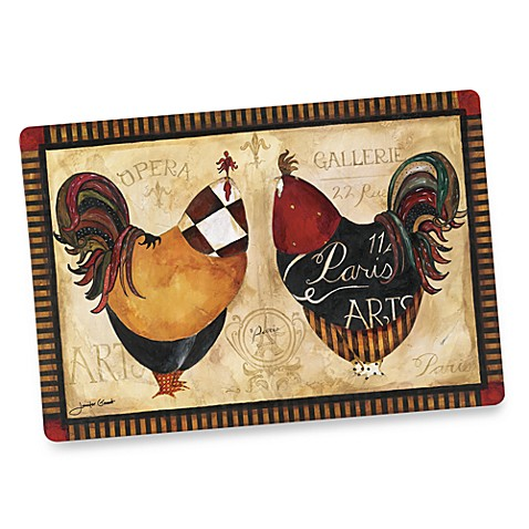 Roosters deux oversized placemat bed bath beyond for Oversized placemats