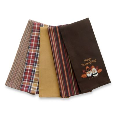 Happy Thanksgiving Kitchen Towels (Set of Five)