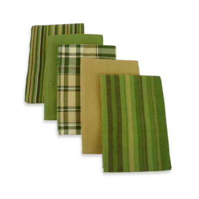 Olive Oversized 5-Piece Kitchen Towel Set