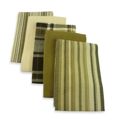Taupe Oversized 5-Piece Kitchen Towel Set