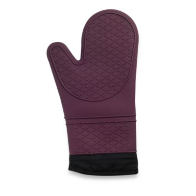Silicone Quilted Oven Mitt in Purple