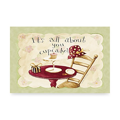 It's All about you cupcake! Disposable Paper Placemats in 40 Sheets per Pad