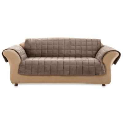 Sure Fit® Deluxe Loveseat Pet Furniture Throw in Sable