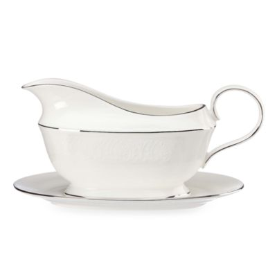 Lenox® Hannah Platinum® Gravy Boat and Stand