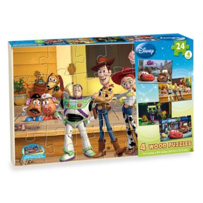 Disney 4-Pack Wooden Puzzles