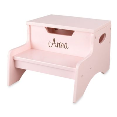"KidKraft® Personalized ""Ashley"" Pink Step N' Store"