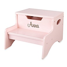 KidKraft® Personalized Girl's Step N' Store in Pink with Brown Lettering