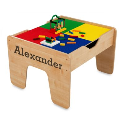 "KidKraft® Personalized ""Alexander"" 2-in-1 Activity Table with Brown Lettering"