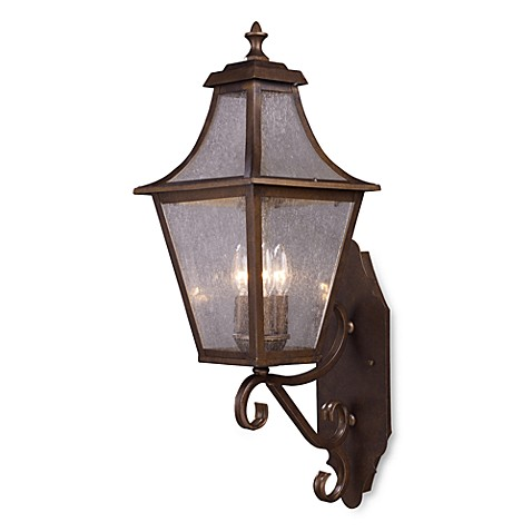 ELK Lighting Washington Avenue 3-Light Large Outdoor Sconce (Coffee Bronze)