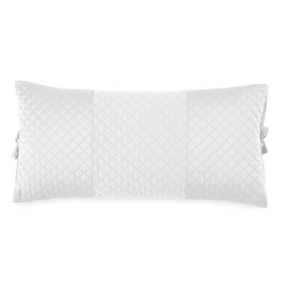 DKNY Harmony Oblong Toss Pillow in White