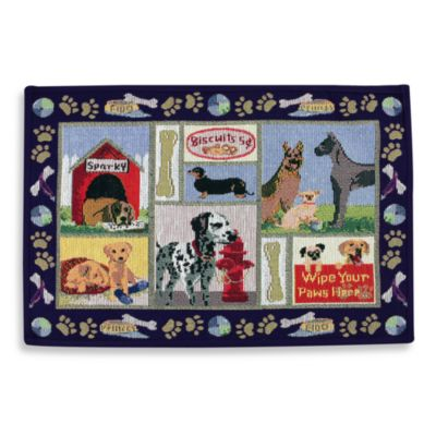 Park B. Smith® Dog Days 19-Inch x 27-Inch Pet Mat in Navy