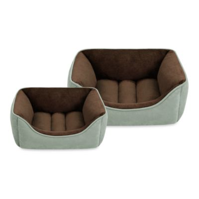 SoftTouch™ Faux Suede Reversible Rectangular Cuddlers in Chocolate/Celedon