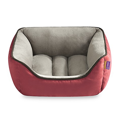 HALO® Unisuede Reversible Rectangular Cuddler - Chili/Taupe
