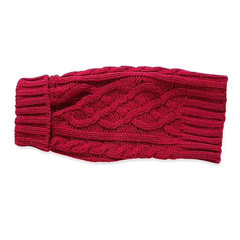 Spot on Dog Perfect Fit Cable Sweater - Medium Red