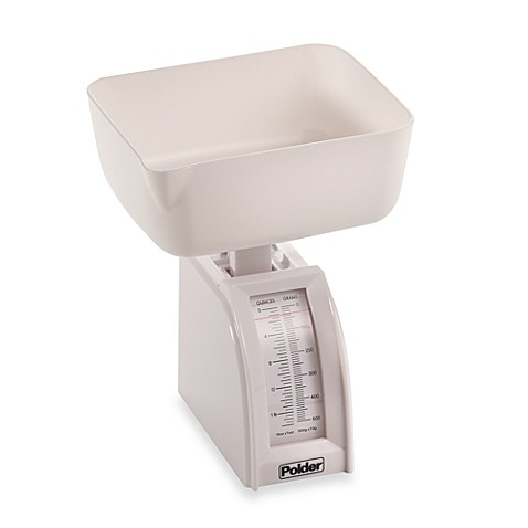 Polder® Diet Utility Food Scale in White