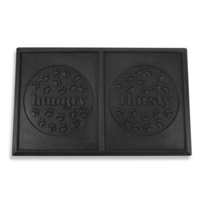 Hungry/Thirsty Rubber Pet Placemat