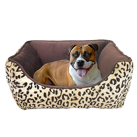 Paws and Claws Fur Lounger Bed in Cheetah