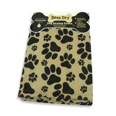 Paw Printed Drying Towel -Oversized & Ultra Absorbent Microfiber