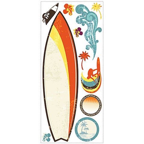 RoomMates Dry Erase Peel & Stick Giant Wall Decals in Surfs Up