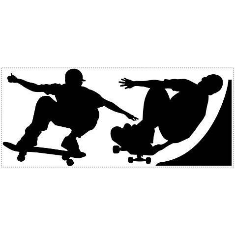 RoomMates Chalkboard Chalk Peel & Stick Wall Decals in Skaters