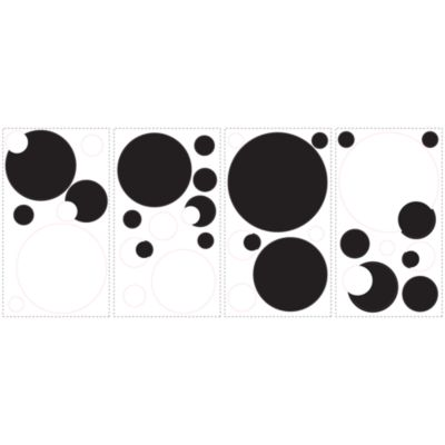 RoomMates Black and White Chalkboard Dots Peel and Stick Wall Decals