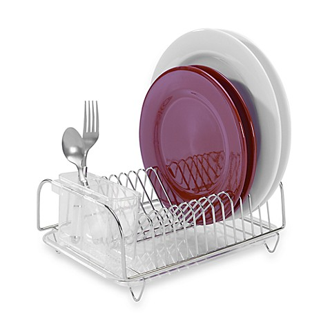 Compact dish rack set - Dish racks for small spaces set ...