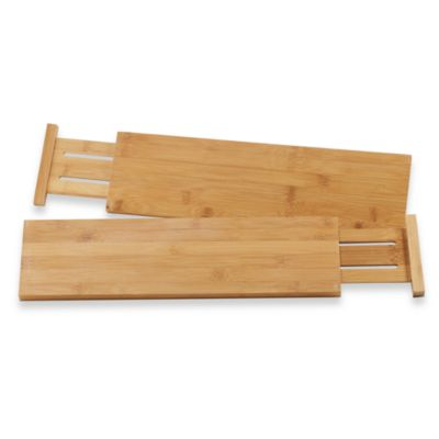 Lipper International Bamboo Kitchen Drawer Dividers (Set of 2)