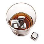 Brookstone® n'ICE Cubes™ Stainless Steel Drink Chillers (Set of 6)