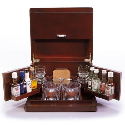 Brookstone® Mini Bar Portable Tabletop Bar & Accessories