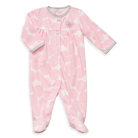 Carter's® Microfleece Snap-Up Sleep & Play - Pink Polka Dot