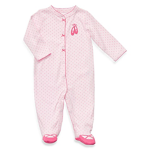 Carter's Cotton Snap-Up Sleep & Play - Pink Slippers