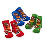 Mud Pie™ Size 0 to 12 Months 3-Pack Sports Socks
