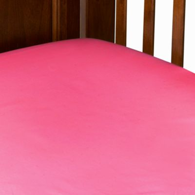 TL Care® 100% Cotton Jersey Crib Sheet in Fuchsia