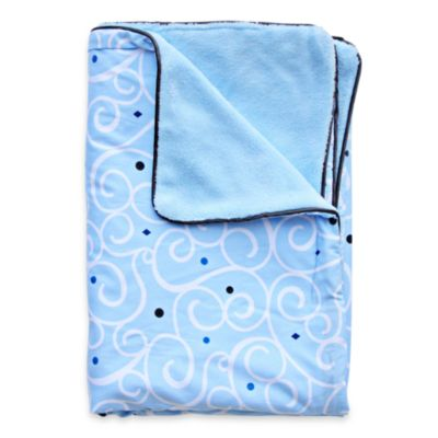 Caden Lane® Luxe Light Blue Swirl Blanket