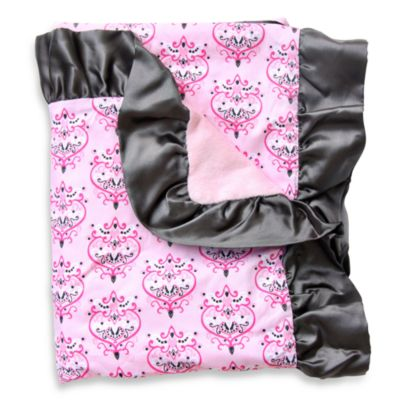Caden Lane® Damask Luxe Collection Ruffle Blanket