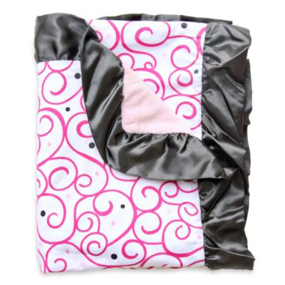 Caden Lane® Dark Pink Swirl Luxe Collection Blanket