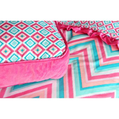 Caden Lane® Ikat Pink Square Pillow