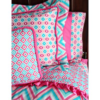 Caden Lane® Ikat Pink Twin Duvet Cover