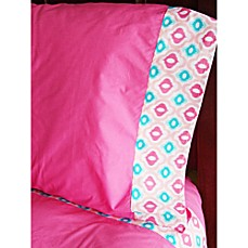 Caden Lane® Ikat Pink Twin Sheet Set