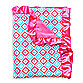 Caden Lane® Ikat Diamond Pink Ruffle Blanket