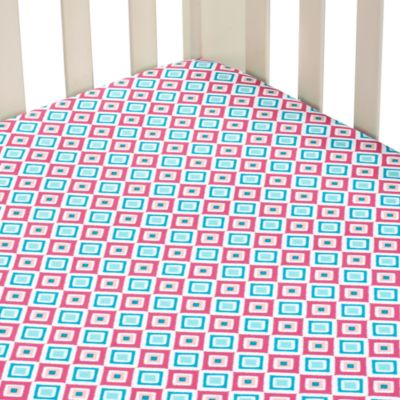 Caden Lane® Ikat Diamond Pink Single Sheet